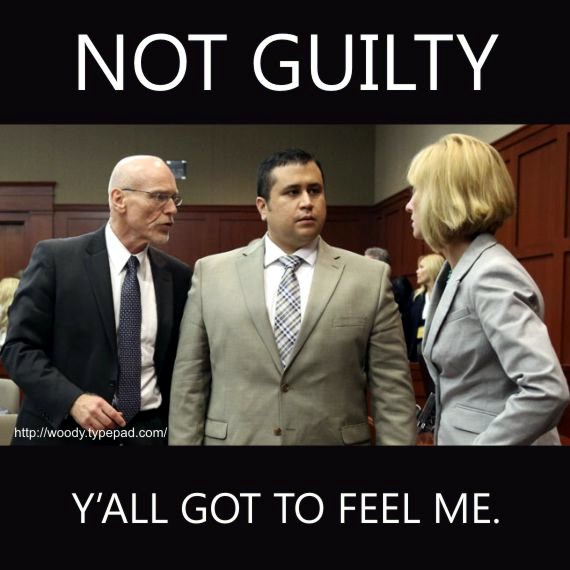 George Zimmerman, Not Guilty