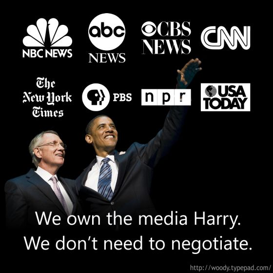 Obama and Reid don't need to negotiate, the liberal media will still blame Republicans.