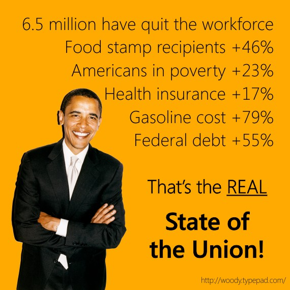 The REAL State of the Union under Obama