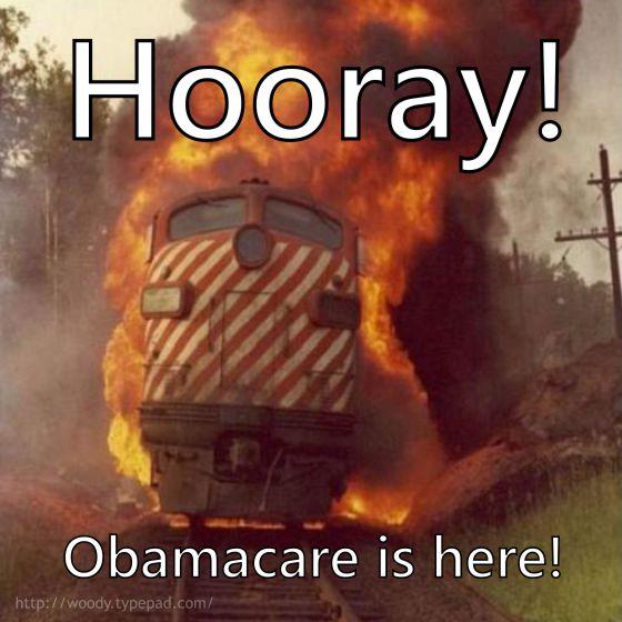 Obamacare trainwreck.