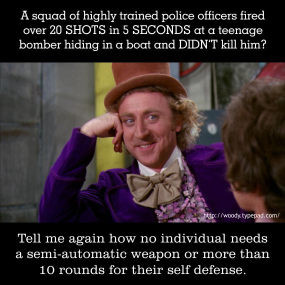 Willy Wonka On Self Defense / Dzhokhar Tsarnaev